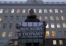 Активисты, требующие «посадки» Андрея Носкова, поплатились разбитым автомобилем